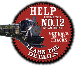 Help the baldwin NO.12 steam engine get back on the tracks.